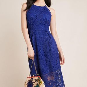New Anthropologie Ava Lace Midi Dress by Eri + Ali